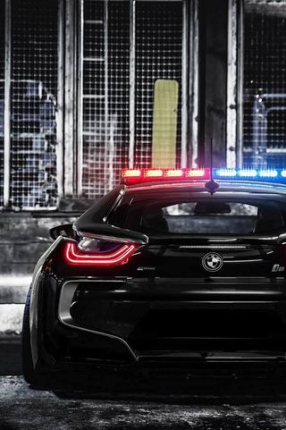 Обои на телефон полиция, черные, машины, бмв, bmw i8 police car, bmw