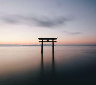 Обои на телефон архитектура, японские, сцена, пейзаж, дзен, torii