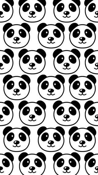 Обои на телефон коллаж, черные, панда, время, белые, pandas