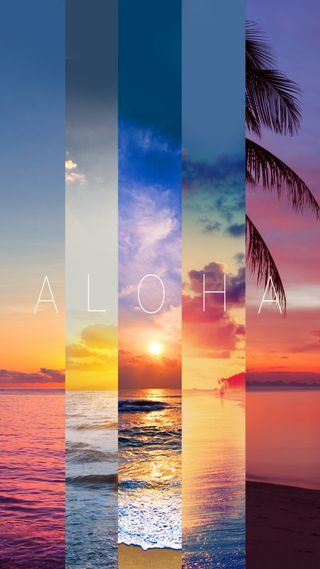 Обои на телефон закат, aloha
