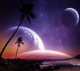Обои на телефон планеты, фантазия, космос