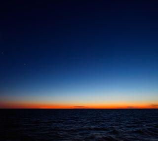 Обои на телефон сумерки, солнце, синие, оранжевые, небо, sun set, darkdroid
