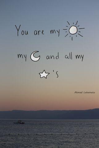 Обои на телефон солнце, темные, море, мой, любовь, луна, звезды, восход, tiamo, mylove, love, drone