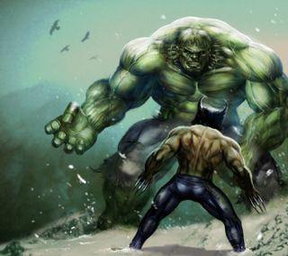 Обои на телефон росомаха, халк, развлечения, мультфильмы, злодей, герой, wolverine and hulk