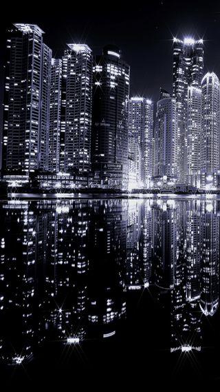 Обои на телефон ночь, citylights