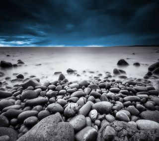 Обои на телефон шторм, рок, пляж, облака, море, камни, storm sea