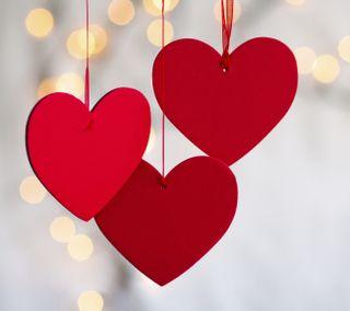 Обои на телефон боке, сердце, красые, red hearts