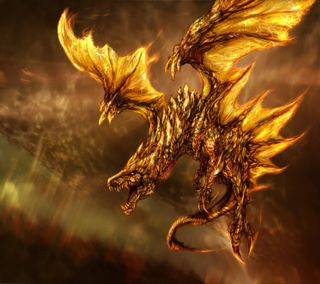 Обои на телефон фантастические, фантазия, золотые, дракон, gold dragon, dragon