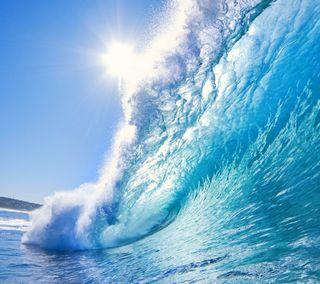 Обои на телефон волна, пляж, hd