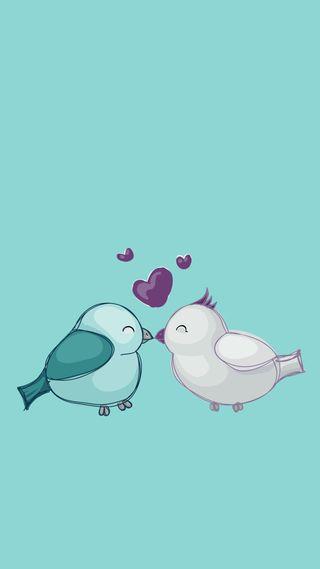 Обои на телефон айфон 6, птицы, любовь, айфон 5, love