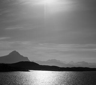 Обои на телефон черные, пейзаж, норвегия, горы, белые, norwegian landscape