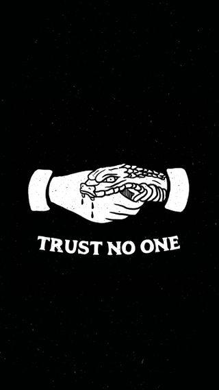 Обои на телефон доверять, темные, trust no one, betrayal