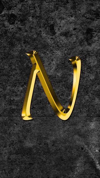 Обои на телефон буквы, n letter