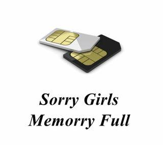 Обои на телефон sorry memory full, res, ers