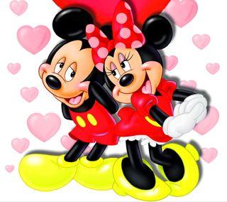 Обои на телефон минни, романтика, микки, маус, любовь, дисней, валентинка, love, disney