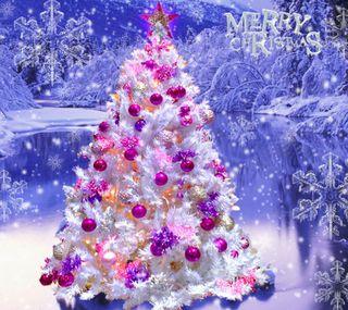 Обои на телефон холодное, счастливое, дерево, рождество, зима