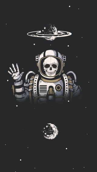 Обои на телефон планета, череп, скелет, мечта, крутые, космос, космонавт, звезды, галактика, galaxy
