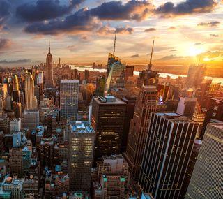 Обои на телефон твой, естественные, пейзаж, новый, йорк, здания, закат, город, uhd, hd, 4k new york, 4k