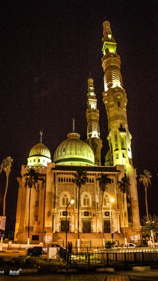 Обои на телефон мечеть, улица, portsaid