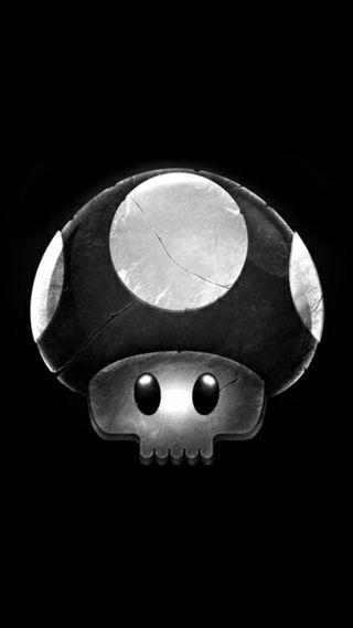 Обои на телефон черные, супер, смерть, марио, грибы, mario brothers, death mushroom