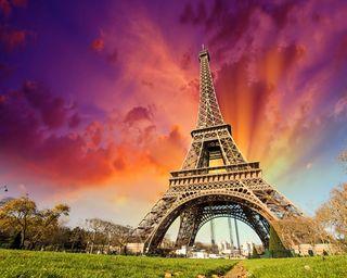Обои на телефон эйфелева башня, париж, закат, башня