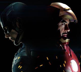 Обои на телефон капитан, железный человек, война, америка, captain america cw16