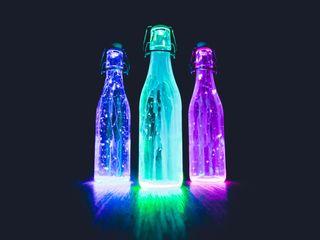 Обои на телефон симпатичные, свет, красочные, led, bottles, 2018