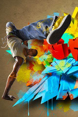 Обои на телефон танец, рука, граффити, moove, freestyle, dancer