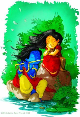 Обои на телефон русалка, радха, кришна, маленький, radha krishna, rada, krishna radha, krish, flute
