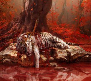 Обои на телефон тигр, мертвый, игра, далеко, far cry 4 dead tiger, far cry 4, dead tiger