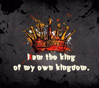 Обои на телефон корона, приятные, поговорка, новый, крутые, король, королевство, own, i am king