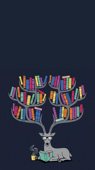Обои на телефон книга, цветные, животные, дизайн