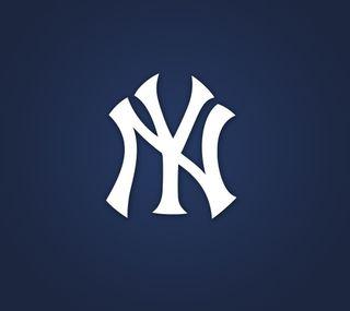 Обои на телефон янки, бейсбол, синие, новый, логотипы, yankees logo blue