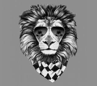Обои на телефон лев, черные, хипстер, белые, арт, абстрактные, art