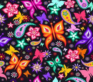 Обои на телефон цветочные, цветы, фон, дизайн, бабочки, арт, абстрактные, art