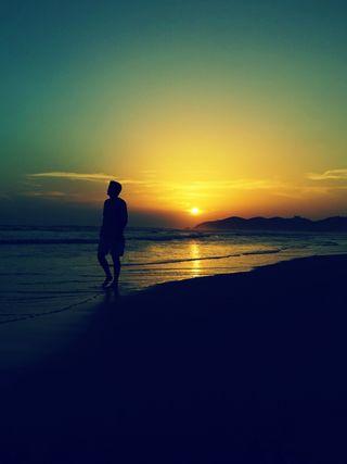 Обои на телефон одинокий, темные, солнце, пляж, грустные, sunseat, a lone