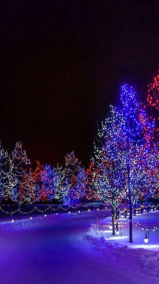 Обои на телефон улица, рождество, christmas street