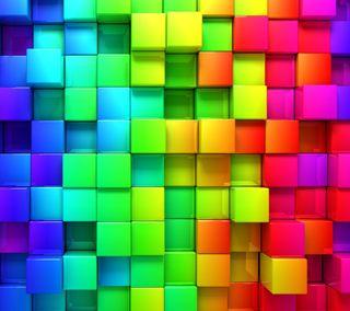 Обои на телефон кубы, цветные, фон, абстрактные