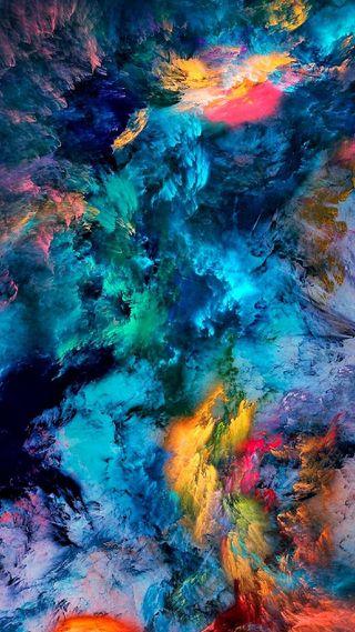 Обои на телефон взрыв, цветные, абстрактные