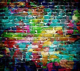 Обои на телефон backgcround, красочные, стена, камни, цветные, кирпичи