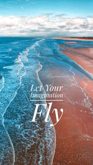 Обои на телефон летать, море, fly imagination, costa