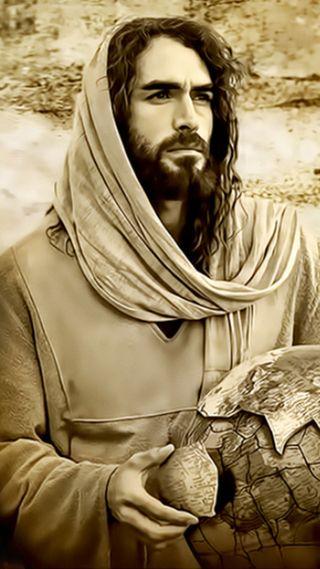 Обои на телефон христос, христианские, исус, sepia