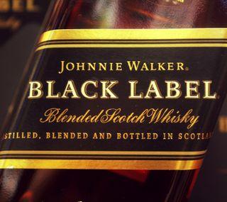 Обои на телефон виски, черные, напиток, black label, alcohols