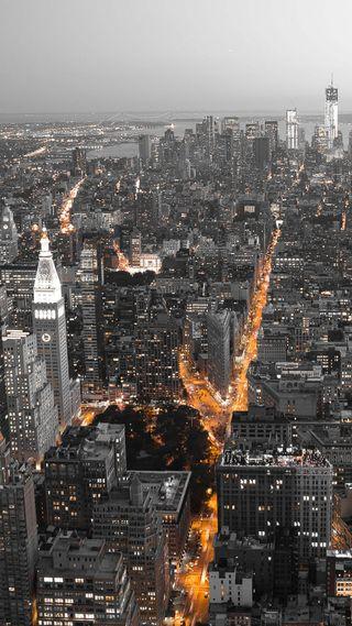 Обои на телефон сша, огни, новый, йорк, город, usa