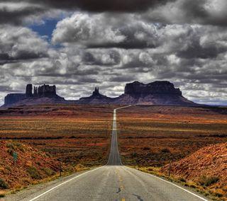 Обои на телефон пустыня, природа, небо, красота, классные, закат, дорога, длинный, горы, long road