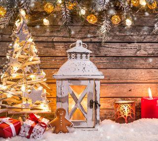 Обои на телефон фонарь, украшение, рождество