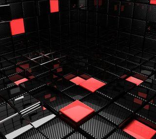 Обои на телефон отлично, черные, новый, кубы, куб, красые, абстрактные