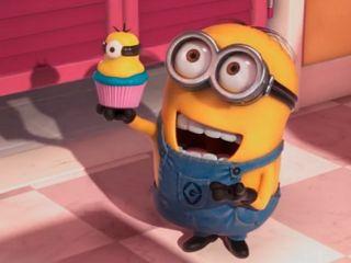Обои на телефон торт, счастливые, мультики, миньоны, happy, 640x480px