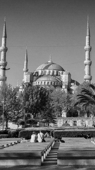 Обои на телефон стамбул, черные, турецкие, люди, здания, белые, архитектура