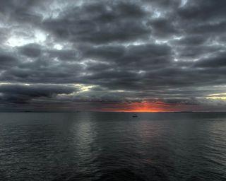 Обои на телефон штормовой, удивительные, природа, погода, плохой, океан, облака, закат, bad